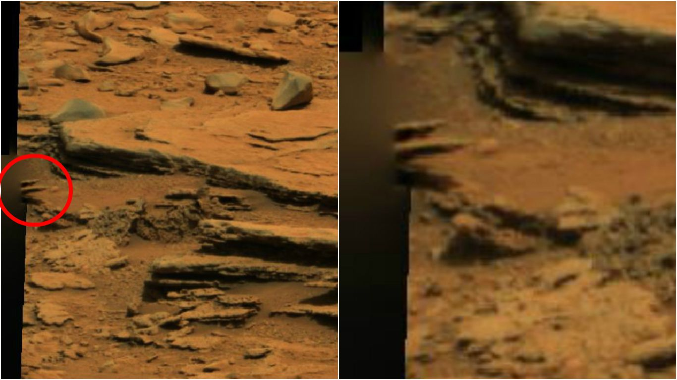 nasa rover spots claw of living alien on mars - HD 1366×768