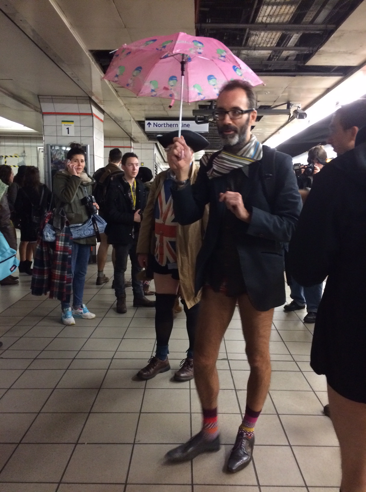 Metro strips off with hundreds of Londoners for the No Trousers Tube Ride event