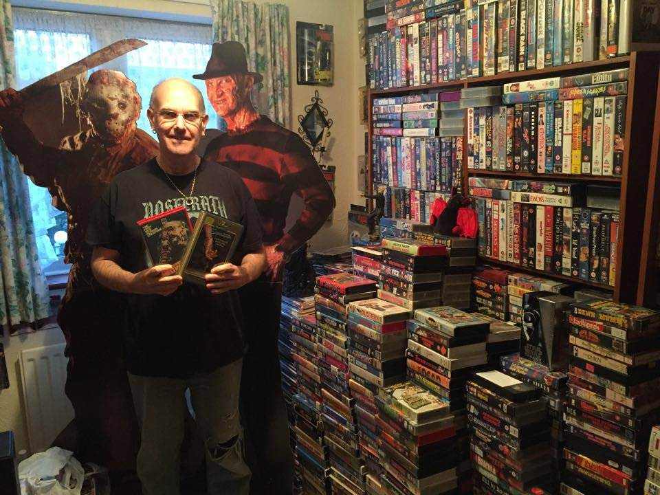 This guy is an inexplicably big fan of horror films on VHS