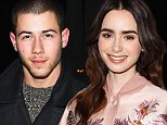 Nick Jonas, 23, is 'dating' Lily Collins, 26, after revealing he had 'unbelievable connection' with Kate Hudson, 36