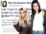 Uber says Kendall Jenner 'is not banned' after Kim Kardashian called out company on Twitter