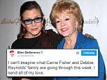 Ellen DeGeneres leads stars paying tribute to Debbie Reynolds