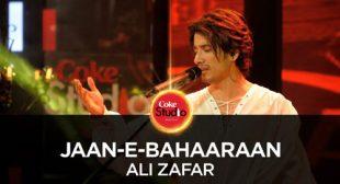 Ali Zafar's New Song Jaan-e-Bahaaraan