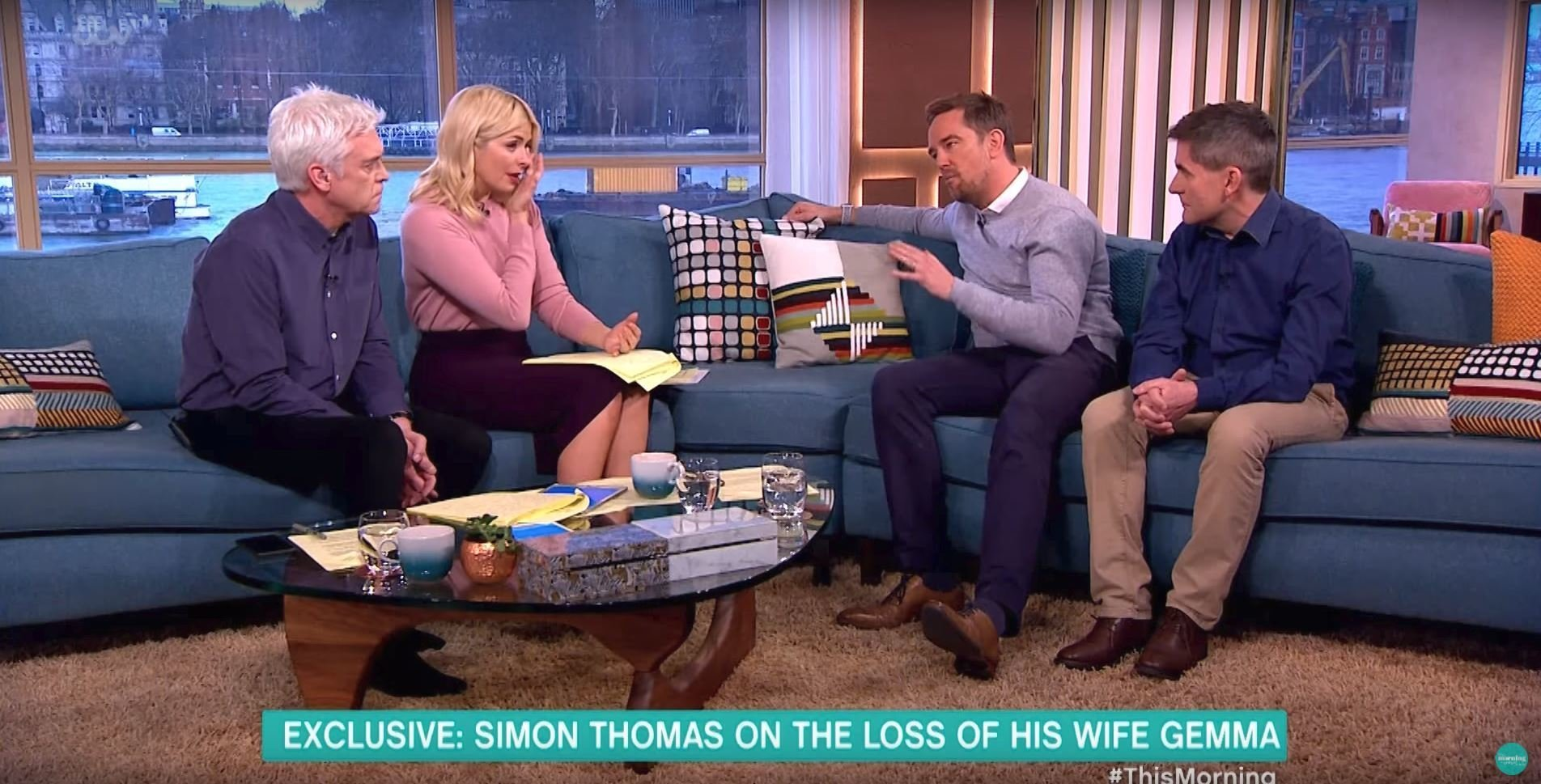 Simon Thomas Has Holly Willoughby And Phillip Schofield In Tears With Tragic Story Of Wife's Death On 'This Morning'