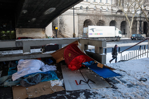 Homeless Man Found Dead In Tent In Nottinghamshire As UK Hit By Sub-Zero Temperatures And Blizzards