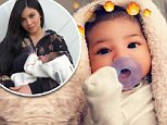 Kylie Jenner shares first photo of baby Stormi's face