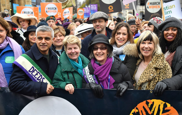 March4Women Through London Sees Sadiq Khan Join Demonstrators For Gender Equality