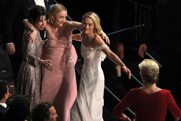 Oscars 2018: Best Actress Nominees Share A Group Hug After Frances McDormand's Win