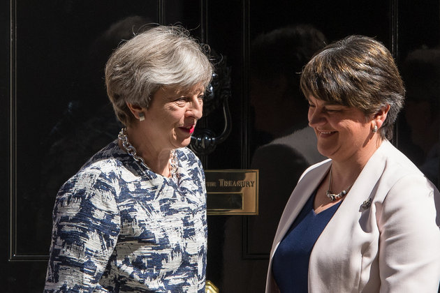 Theresa May Protects DUP From Free School Meal Cuts Set To Hit England's Universal Credit Claimants