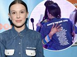 Millie Bobby Brown wears names of Parkland victims as she is honored at Kids' Choice Awards