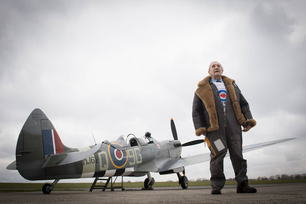 Battle Of Britain Veteran, 96, Takes To Skies In Spitfire To Mark RAF's Centenary