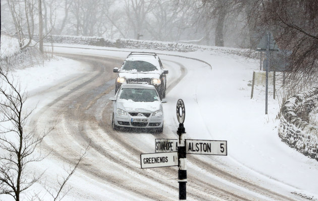 UK Easter Weather Forces Road Closures As Yellow Warnings Issued
