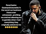 Drake accused Parq Casino in Vancouver of racially profiling him