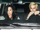 Demi Lovato drives off with handsome friend Henry Levy