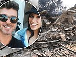 Robin Thicke's girlfriend April Love Geary shares heartbreaking snap of their home lost to wildfire