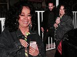 Diana Ross, 74, looks thrilled to be taking in her son Evan's show  as he sings with Ashlee Simpson