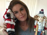 Caitlyn Jenner snuggles up to Santa as she sorts decorations