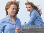Fresh-faced Nicole Kidman looks windswept as she continues filming TV project Big Little Lies