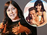Shannen Doherty  cries when she talks about her Beverly Hills, 90210 co-star Luke Perry
