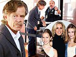 William H Macy distraught as he arrives at federal building where wifeFelicity Huffman is held
