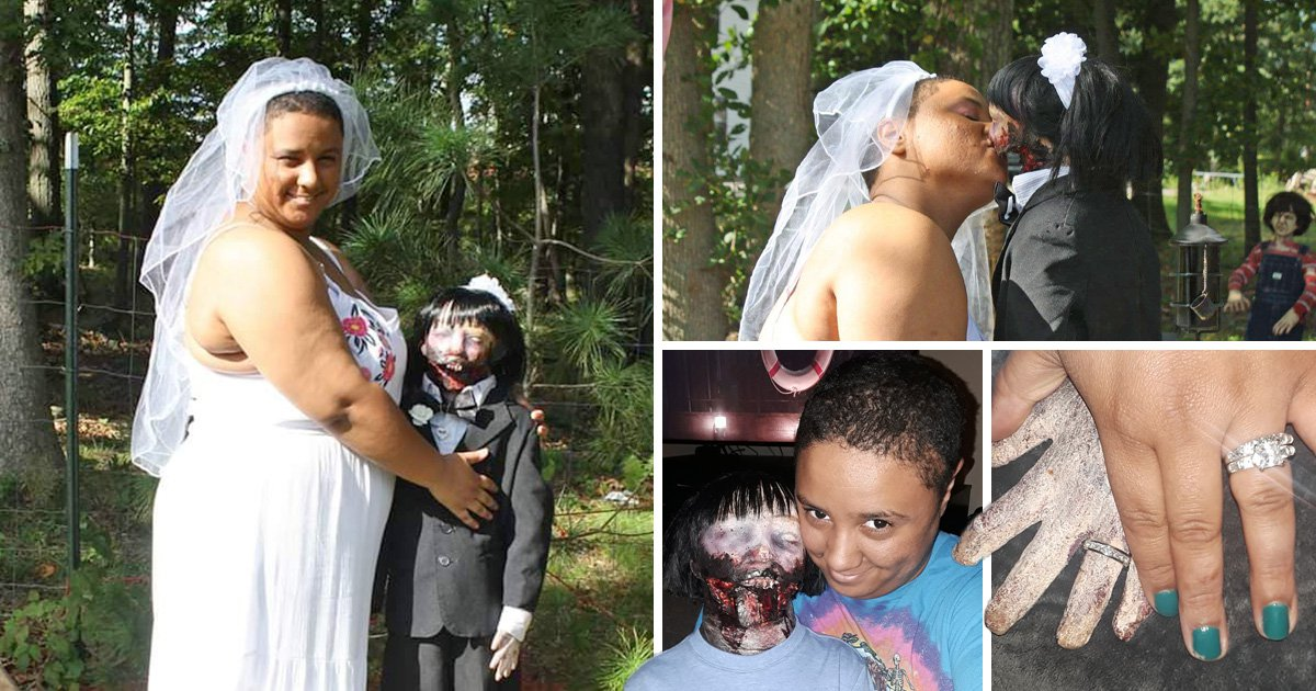 Woman weds zombie doll and they've even consummated marriage