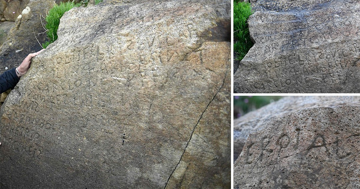 Can you crack mystery of 230-year-old rock inscription?