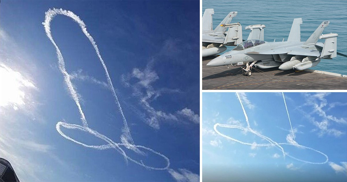 Cockpit audio as Navy pilots drew massive penis in the sky