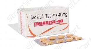 Tadarise 40mg : Reviews, Side effects, Dosage | Strapcart