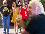 Ric Flair looks in good spirits as he enjoys cold beer alongside his family in Alabama