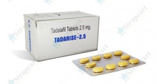 Tadarise 2.5mg : Uses, Dosage, Side Effects | Strapcart
