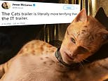 Cats movie trailer: Claws come out on social media for first official look