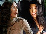 Kourtney Kardashian bashes sister Kim as she calls her a'f***ing fake humanitarian ho' during fight