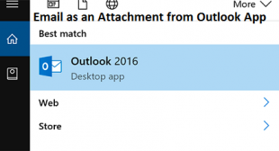 How to Send an Email as an Attachment from Outlook App – Redeem Office