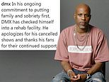 DMX checks back into rehab and cancels shows 'as he puts family and sobriety first'