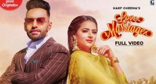 Love Marriage Lyrics – HARF CHEEMA in Hindi & English | Shetty Production