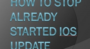 How to Stop Already Started iOS Update
