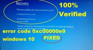 HOW TO FIX 0XC00000E9 ERROR CODE ON WINDOWS 10?