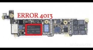 How to Solve iPad 4013 Error?