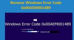 How to Fix 0x00AEM001489 Error Code?