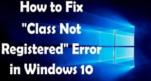 How to Fix 'Class not registered' Error on Windows 10? – Webroot.com/safe