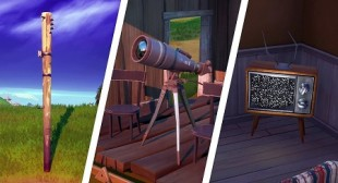 Fortnite: Locations of Telescope, Television & Telephone Pole