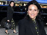 Julia Louis-Dreyfus looks radiant as she stops by GMA to promote her new movie Downhill