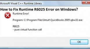 How to Fix Runtime R6025 Error on Windows? – Norton Setup