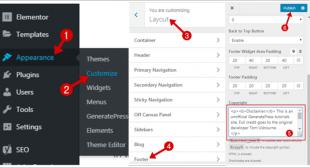 Remove/Edit Footer Credit of GeneratePress WordPress theme – TeckBite