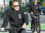 Arnold Schwarzenegger on LA bike ride after donating $1million to COVID-19 medical supply relief