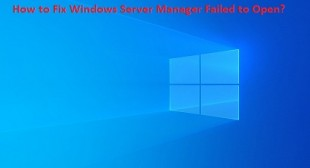 How to Fix Windows Server Manager Failed to Open? – McAfee.com/Activate