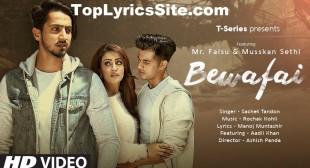 Bewafai Lyrics – Sachet Tandon – TopLyricsSite.com