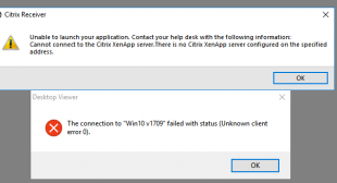 How to Fix Citrix Receiver launch error in Windows 10?