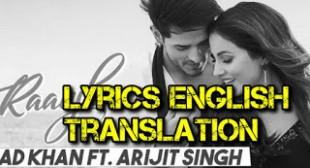 Raanjhanaa Lyrics Song Arijit Singh