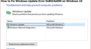 How to Fix Windows Update Error 0x8024a000 on Windows 10 – Norton Setup